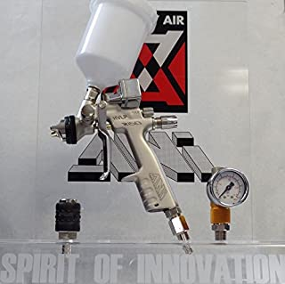 ANI Digital HVLP R150 250 cc Click Mini Spray Gun silver FREE NYLON CUP FREE AIR REGULATOR AND FREE QUICK COUPLER (1.2)