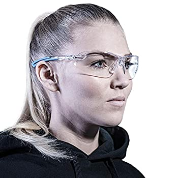 Solid safety glasses designed to fit perfectly | Safety work glasses with integrated side protection | Clear scratch-resistant anti-fog and UV-protection lenses | Glasses for women & men