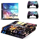 Homie Store PS4 Pro Skin - Ps4 Skins - Ps4 Slim Sticker - Game Kingdom Hearts 3 PS4 Skin Sticker Decal for Sony Playstation 4 Console and 2 Controller Skin PS4 Sticker Vinyl