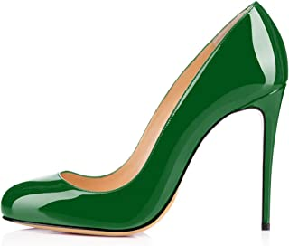 elashe Womens High Heel Pumps |10cm Stiletto Round Toe Pumps | Classic Sexy Wedding Dress Pumps