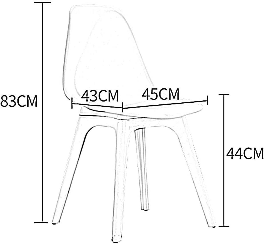 LJFYXZ Chaises de Cuisine Conception du Dossier Chaise d'appoint en PP Convient pour la Cuisine, Salle à Manger, Chambre à Coucher, Salon 45x43x83cm (Color : Pink) Pink