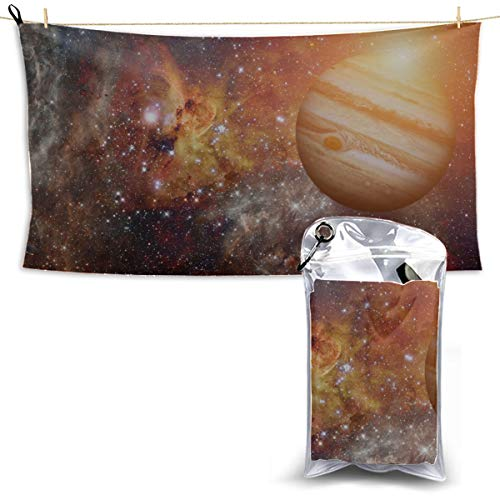 Fifth Planet in Solar System Shower Towel Camping Towel Beach Travel Cool Sports Towel Bath Towel Microfiber 27.5'' X 51''(70 X 130cm) Best for Gym Travel Camp Yoga Fitnes