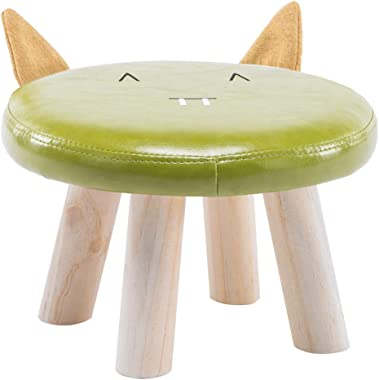 Children's Stool Baby Sofa Stool Cute Animal Stool Solid Wood Stool Home Small Stool Cartoon Small Bench DELICATEWNN (Color : B)