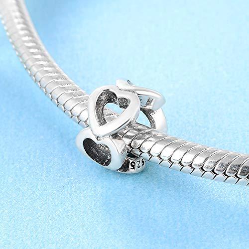 XSZPKL 925 Sterling Silber Kreative DIY hohlen Liebesperlen Fit Original Charm Armband Schmuck