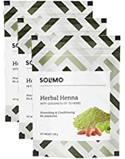 Solimo Amazon Brand - Solimo Herbal Henna, 200g (Pack of 3)