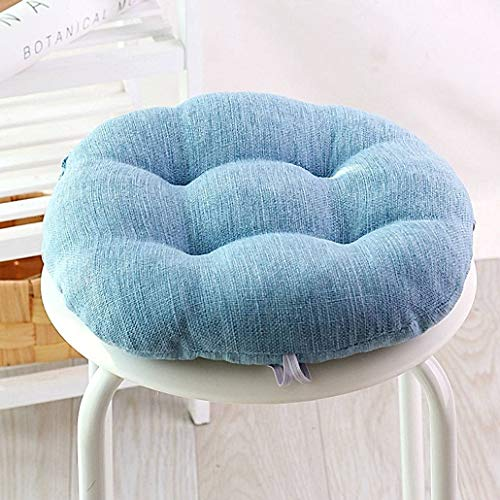 YUMYANY Round Flax Seat Cushion, Portable Reversible Chair Cushion Soft Cozy Cushion Suitable for School Office Home Car-diameter:45cm(18inch)-B