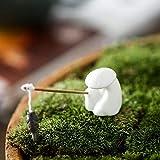 REOOHOUSE Pecera Acuario Estatuas Artesanía, Paisaje Decoración del hogar Regalos para estantería Oficina, Pequeo Quemador de Incienso de cerámica esmaltado Figura Blanco D 3x3x5cm (1x1x2inch)