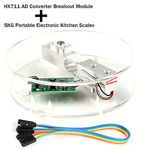 Digital Load Cell Weight Sensor HX711 AD Converter Breakout Module 5KG Portable Electronic Kitchen Scale for Arduino Scale