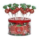 Cerdán Dulce Pips Fresa Chupas Gigante Caramelos con Palo con Pepitas de Azúcar y relleno de chicle 45 Unidades de 20.2 g.