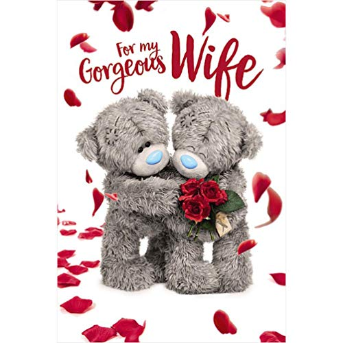 Me To You Bear 3D Holographic Gorgeous Wife Valentine's Day Card