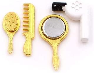 1/12 Dollhouse Miniature Beauty Salon Fashion Play Set with Comb Hair Dryer Mirror