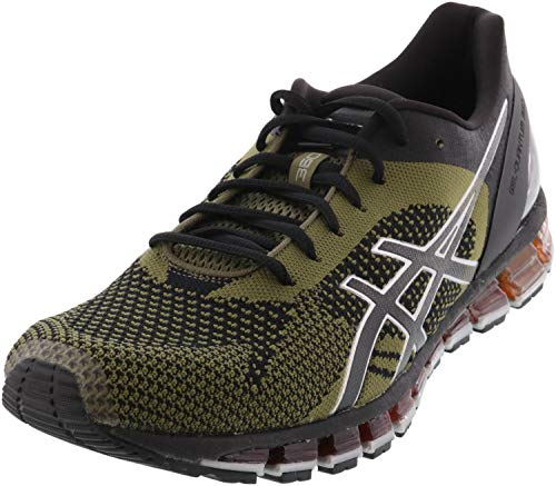 ASICS Men's Gel-Quantum 360 Knit Running Shoes, 11.5M, Black/Martini Olive/Silver