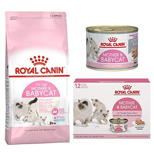 First Age Mother & Babycat Mousse 12 X 195g Wet And 2kg First Age Mother & Babycat Dry Food Enriched, Specially Formulated For Mothers And Kittens 1-4 Months Old During Weaning