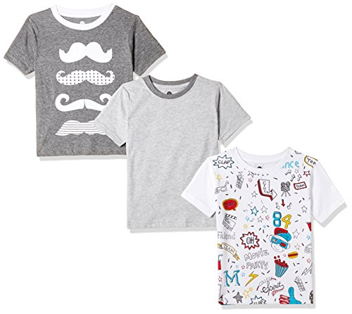 Cloth Theory Boys' Regular Fit T-Shirt (Combo Pack of 3)(CTKR 013_Multi_3-4 Years)