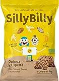 SillyBilly - Barritas BIO - Pack de 14 bolsitas - Quinoa, Espelta, Plátano, Cacao y Almendras - Cuadritos horneados