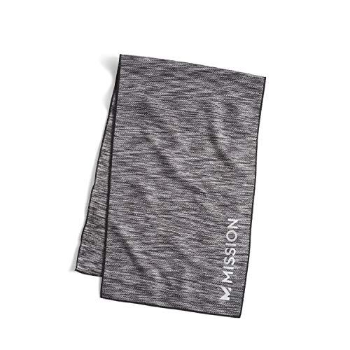 MISSION Lite-Knit Toalla de refrigeración por evaporación instantánea, tela de punto ligera, se enfría al instante cuando está mojada, protección solar UPF 50, yoga, golf, gimnasio, cuello, 10.0 x 32.8in – Tinte espacial de carbón