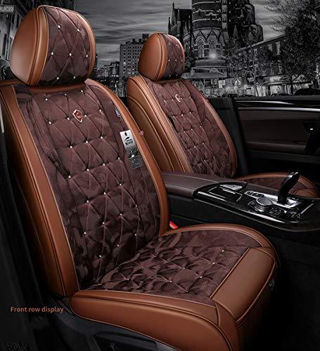 Cubierta de asiento de coche completo, cuero de alto grado envolvente, duradero cómodo resistente al desgaste a prueba de agua, fácil de limpiar, 4 temporadas universal,D