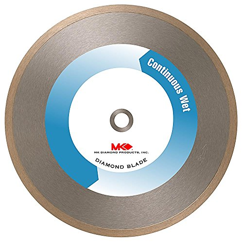 MK Diamond 157511 MK-415 7-Inch Wet Cutting Continuous Rim Diamond Saw Blade with 5/8-Inch Arbor for Porcelain and Vitreous Tile