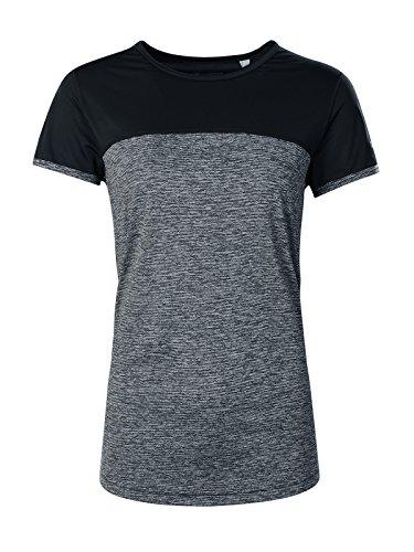 Berghaus Voyager Tech tee Camiseta de Manga Corta, Mujer, Carbon Marl/Jet Black, M