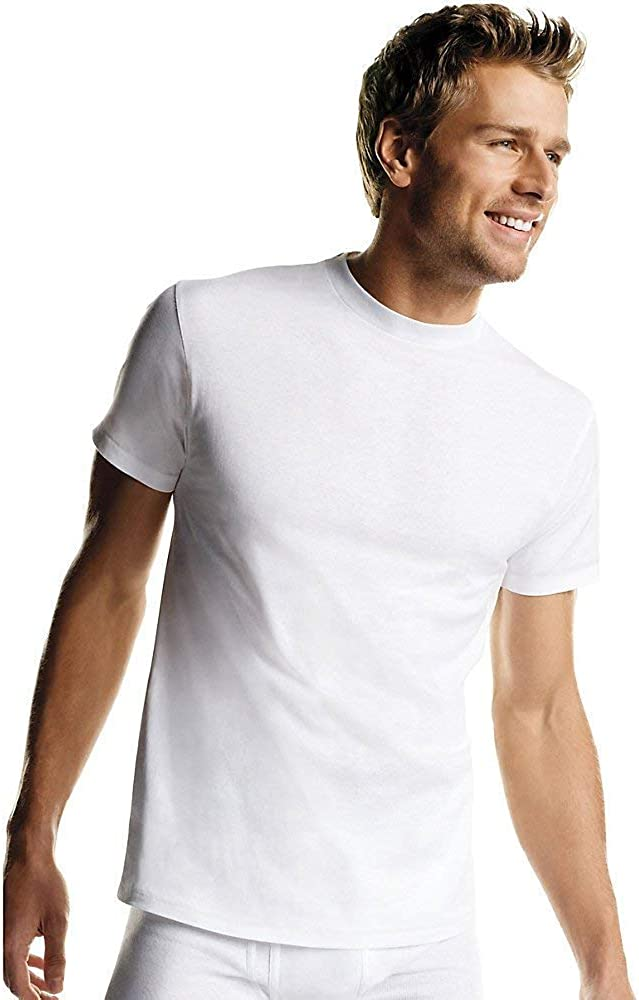 Hanes Mens 6-Pack FreshIQ Crew Adult T-Shirt Limited time for free shipping Free shipping anywhere in the nation