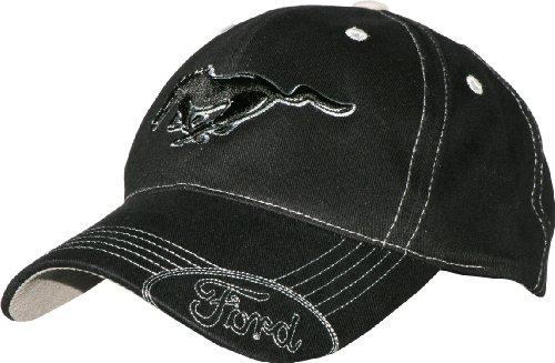 MUSTANG Ford Mütze mit silberfarbener Naht, Schwarz