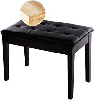 Tabouret De Piano Chaise De Piano Banquette Piano Tabouret for Piano 2 Personnes, Banc de Piano Rembourré avec Rangement S...