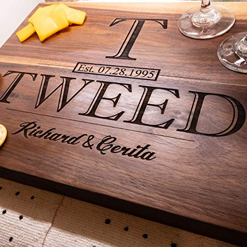 Personalized Cutting Board - Anniversary Gift or Wedding Gift - USA...