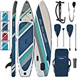 ALPIDEX Tabla Hinchable Surf Stand Up Paddle Board 320 x 76 x 15 cm ISUP Peso Máximo 130 kg Sup Ligero Estable Juego Completo, Color:Cloud