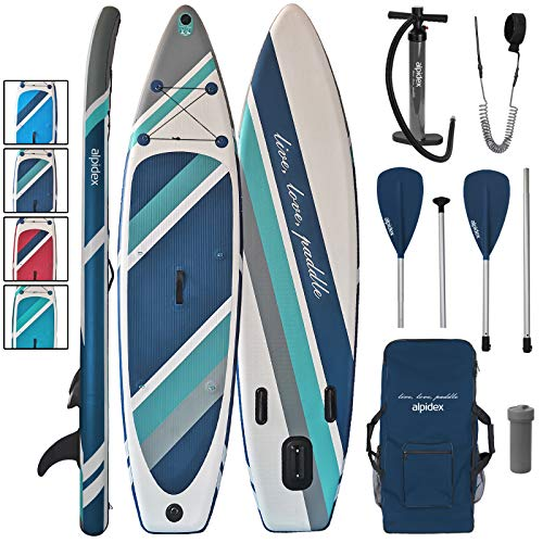 ALPIDEX Tabla Hinchable Surf Stand Up Paddle Board 320 x 76 x 15 cm ISUP Peso Máximo 130 kg Sup Ligero Estable Juego Completo