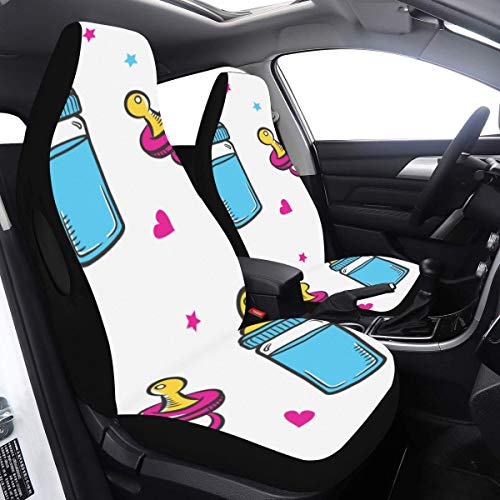 Check Out This Car Seat Covers for Babies Baby Milk Bottle Delicate Car Seats Covers 2 Pcs Universal...