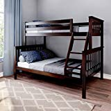 Max & Lily Solid Wood Twin Over Full Bunk Bed, Espresso