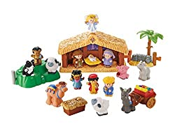 Little People Children's Christmas Story Nativity Set (Includes Pink Pig and Goat)