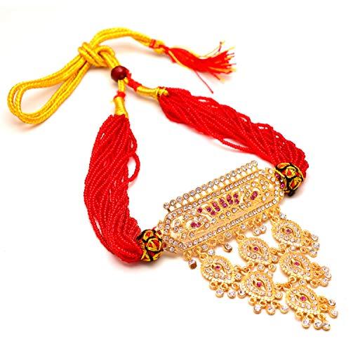 Zewar Halskette Kundan Ad Edelsteine Jaipuri Schmuck ohne Ohrringe 7694