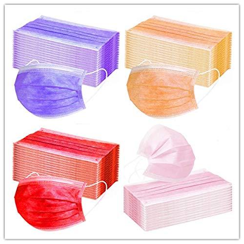 Froid 200 STÜCKE (50 STÜCK Dunkelviolett + 50 STÜCK Orange + 50 STÜCK Rot + 50 STÜCK Rosa), Dreilagiger Vliesstoff