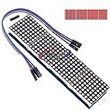 Reland Sun MAX7219 Dot led matriz MCU 8x32 control LED Módulo de pantalla Unidad (gules)