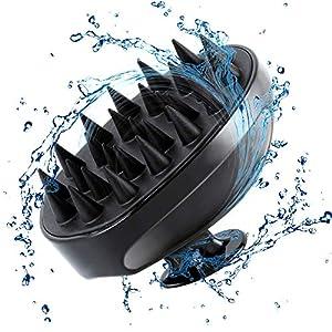 Scalp Massager Shampoo Brush, Soft Silicone No Flaky Scalp Brush for Wet or Dry Hair, Head Scrubber Scalp Exfoliator Anti Dandruff Brush(All Back)