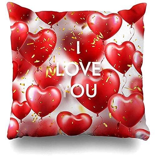 GodYo Flying Pink Ball Valentijnsdag rode hartjes luchtballonnen feestdagen ballon ballonnen verjaardag versoepelen huis kussensloop