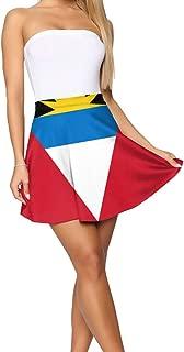 Flag of Antigua and Barbuda Short Skirt Women's Soft Stretch Mini Skirt Short Pencil Skirt S-XL