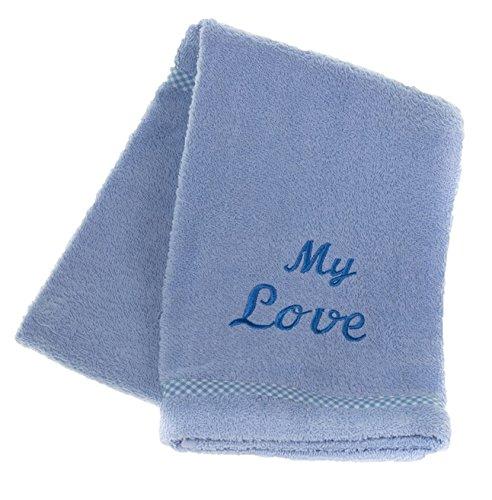 MICHI handdoek My Love, lichtblauw