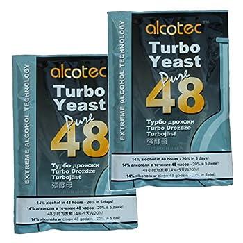 Alcotec 48 Hour Turbo Yeast  Pack of 2