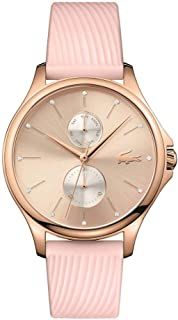 Lacoste Women's Rose Gold Dial Leather Band Watch - 2001025