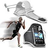 (Blanc + écouteur) Asus Zenfone 2 Deluxe ZE551ML intégrée de haute qualité sport Brassards en cours Bike Cycling Gym Jogging...