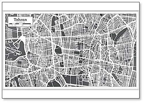 Tehran Iran City Map in Retro Style Illustratie Koelkast Magneet