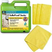 Stonetech Bulletproof Sealer for Natural Stones (1 Gallon) Bundled with Four Microfiber Towels