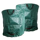 ToCi 2X Gartensack 500L, selbststehend, faltbar, robust - Gartensäcke Grünabfall Rasensack Laubsack Gartenabfallsack