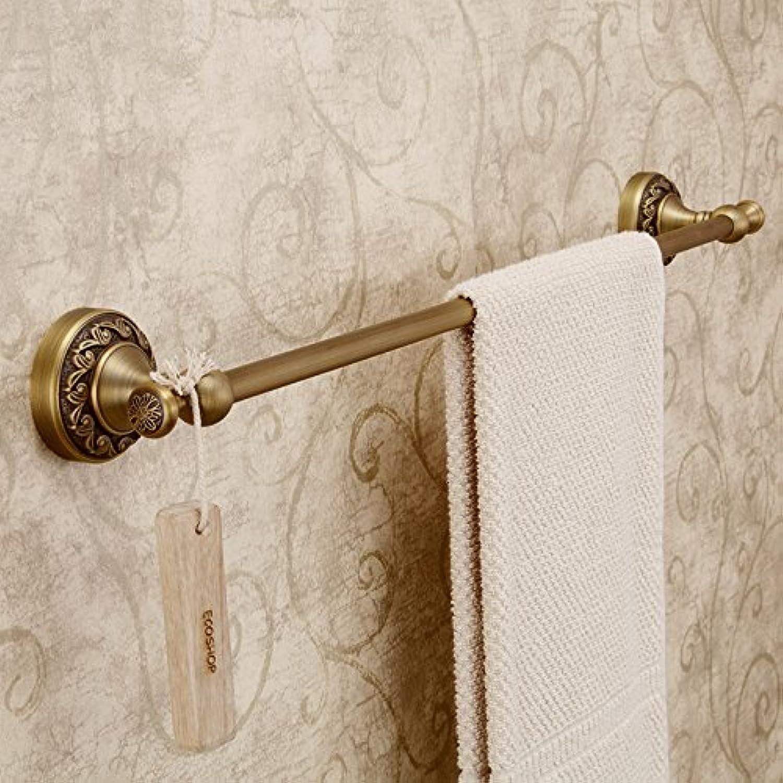 tomamos a los clientes como nuestro dios Continental retro cobre bronce metal bao toallero toallero toallero barra toalla toalla cuelga estantes de toalla  venta de ofertas