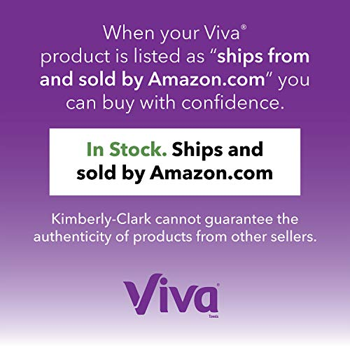 Viva Multi-Surface Cloth Choose-A-Sheet Kitchen Paper Towels, White, 24 Double Rolls (110 Sheets per Roll)