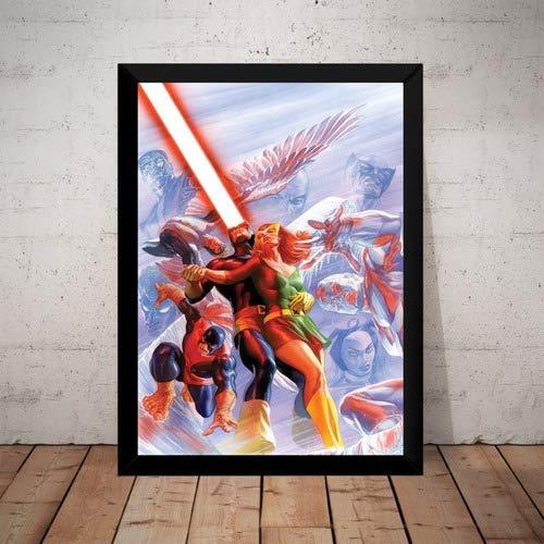 Quadro X-men Scott Jean Grey Marvel Hq Arte De Alex Ross