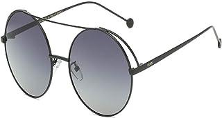 KMCMYBANG Dama Gafas de Sol, Fashion Lady Gafas de Sol polarizadas para Mujer Gafas Retro Redondas con Montura Que conducen la protección UV400 de los Viajes de Vacaciones Gafas de Sol de Mujer,