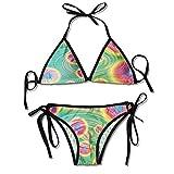 Garlincao Conjunto de Bikini Personalizado con Tanque con Varios Modelos de Bikini con Estampado para Mujeres